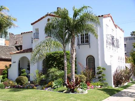 Neoclassical style or classical revival design residential for Spanish eclectic architecture