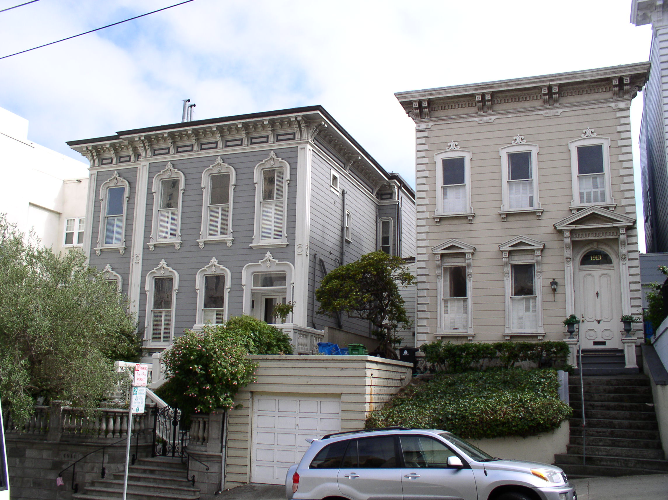 italianate townhouses san francisco - Steamboat Gothic House Plans